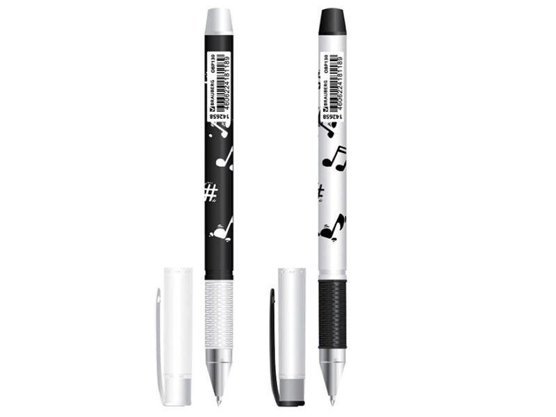 Ручка Brauberg Black&White Melody стержень Blue OBP130