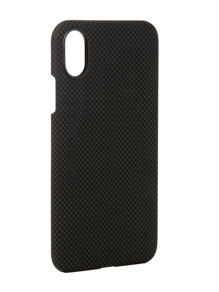 Аксессуар Чехол Pitaka для APPLE iPhone X Aramid Case Black-Grey Plain KI8002X аксессуар чехол для apple iphone x pitaka aramid case black yellow twill ki8006x