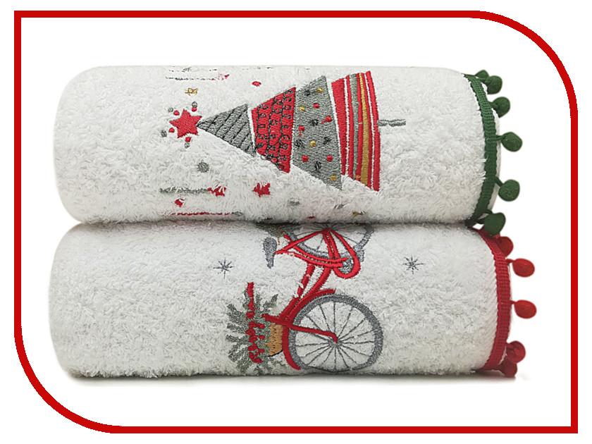Полотенце Arya Sone комплект Рождество С Вышивкой 50х90 TRK111300020677 полотенца arya полотенце ace цвет розовый 50х90 см