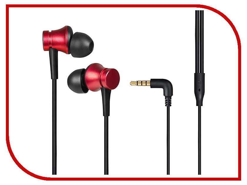 Xiaomi Mi Earphones Basic Red ZBW4442GL original xiaomi piston 2 earphones stereo basic microphone in ear earphones for phones ipad mp3 3 5mm colorful universal headset