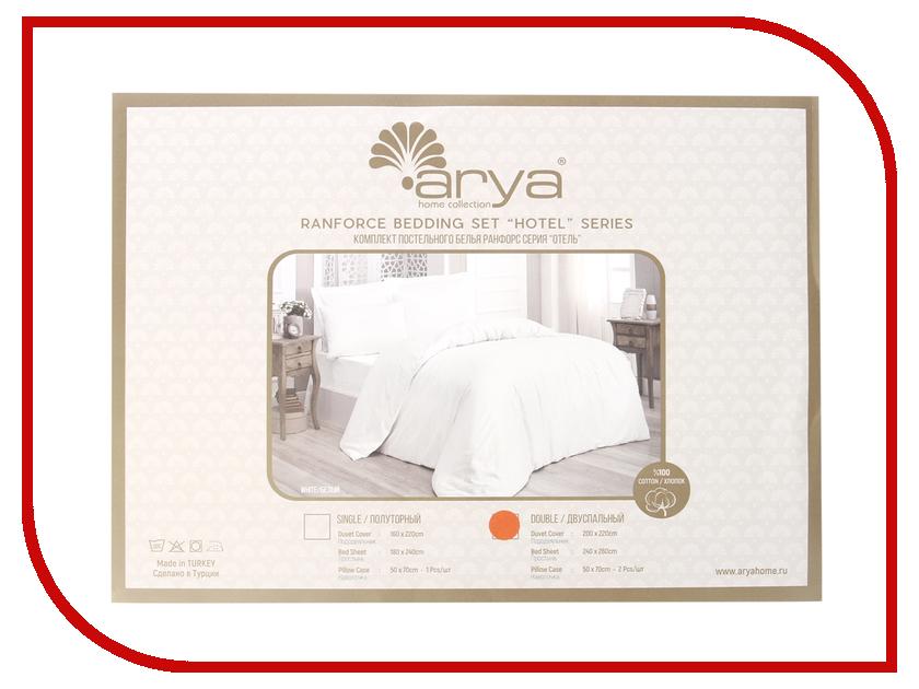 Постельное белье Arya Ранфорс Otel Комплект 2 спальный F0089088 полотенце arya otel 30x50 white f0089855