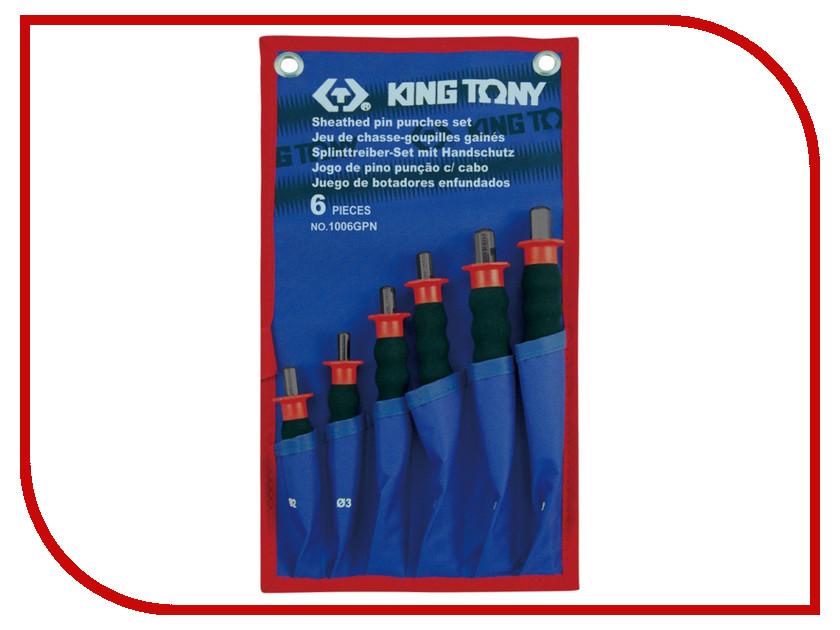 Набор выколоток KING TONY 1006GPN зубило с протектором 22x210мм king tony 76222 84g