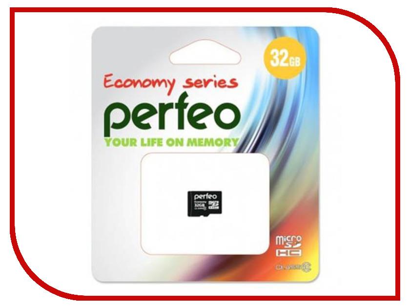 Карта памяти 32Gb - Perfeo Micro Secure Digital HC Class 10 PF32GMCSH10ES карта памяти 32gb kingston high capacity class 10 secure digital sd10vg2 32gb