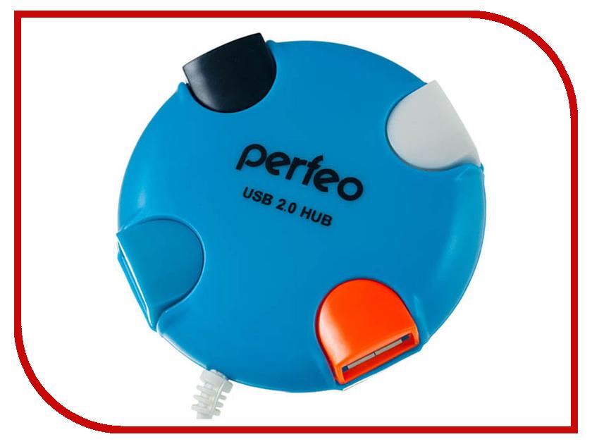 Хаб USB Perfeo PF-VI-H020 Blue perfeo base pf bas vlt violet
