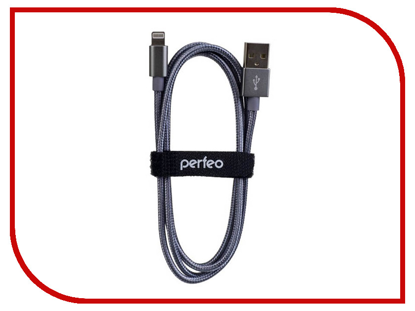 Аксессуар Perfeo USB - Lightning 1m Silver I4305 аксессуар usams us sj199 usb lightning 1 2m blue