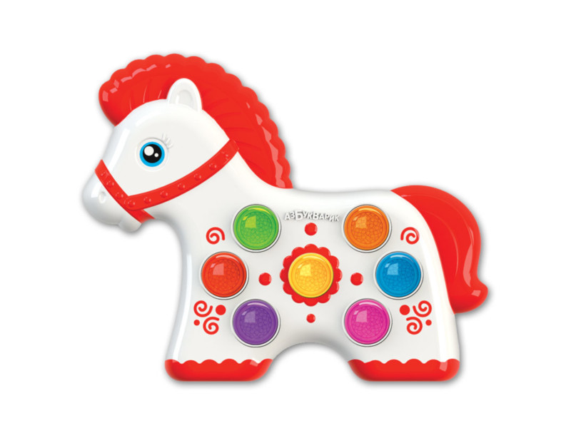 Игрушка Азбукварик Веселушки Лошадка 4680019282664 азбукварик азбукварик что умеет лошадка серия мои первые стихи