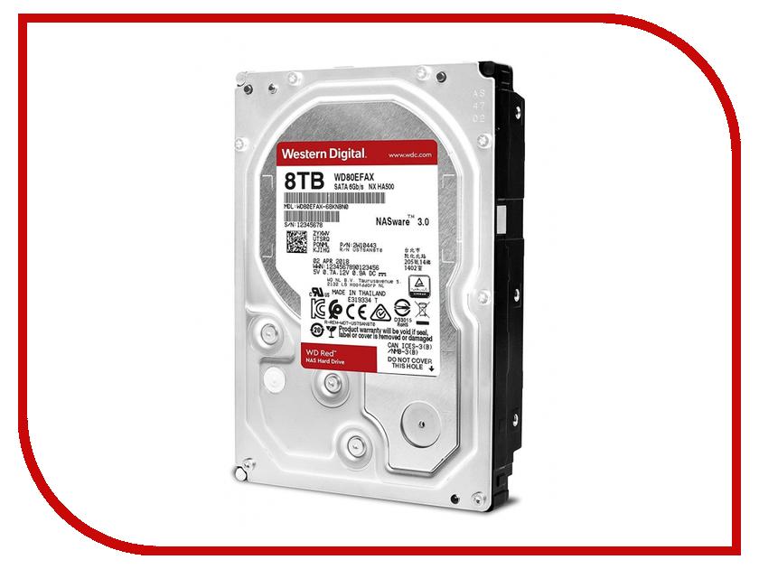 Жесткий диск 8Tb - Western Digital WD Red WD80EFAX жесткий диск 8tb western digital red pro wd8003ffbx