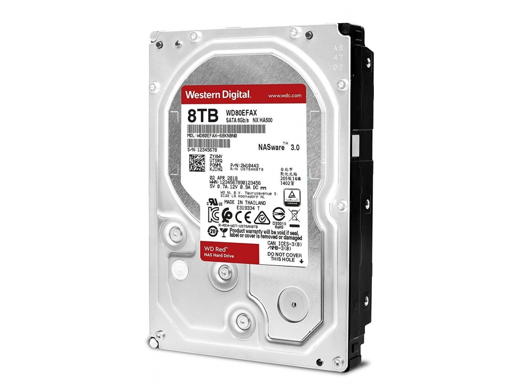Жесткий диск Western Digital WD 8Tb Red WD80EFAX