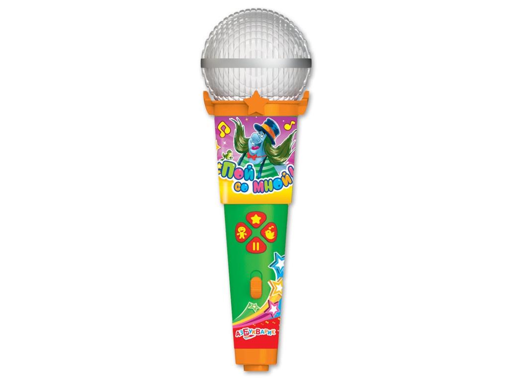 все цены на Детский музыкальный инструмент Азбукварик Микрофон Песенки весёлых мультяшек 4680019281629 онлайн