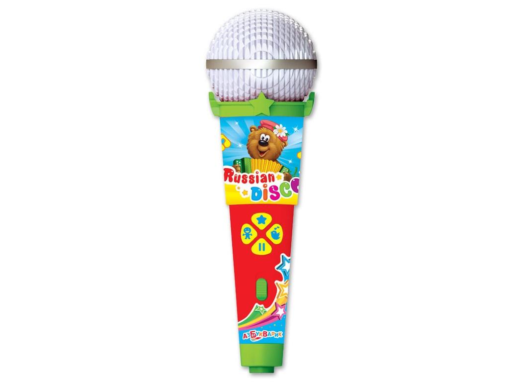 Детский музыкальный инструмент Азбукварик Микрофон Русское диско 4680019281650