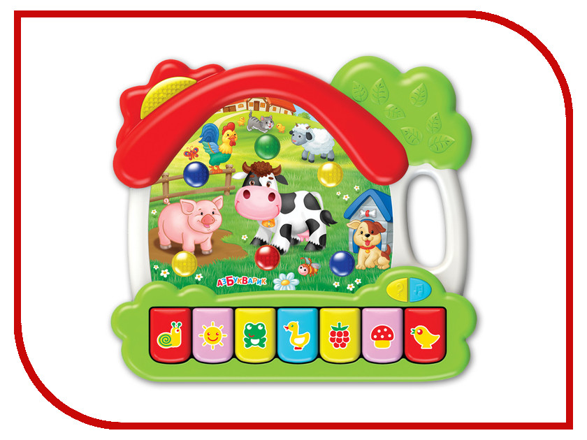 Игрушка Азбукварик Музыкальный домик Ферма 4680019282084 телефончик азбукварик ферма 4630014081069