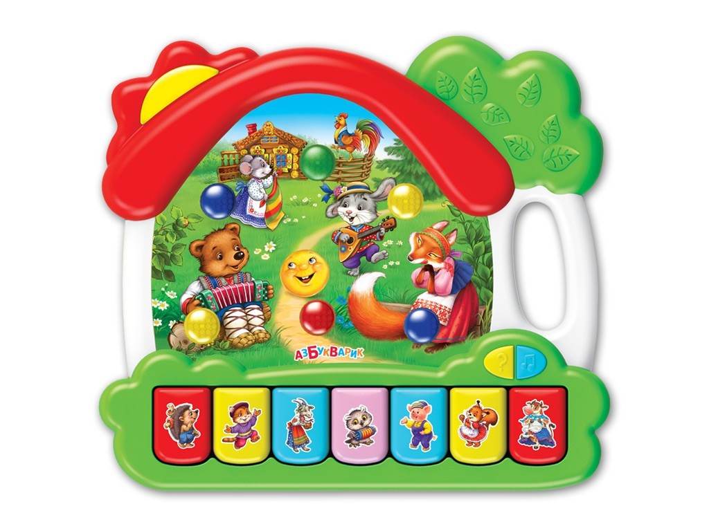 Игрушка Азбукварик Музыкальный домик Сказки 4680019282091 цена