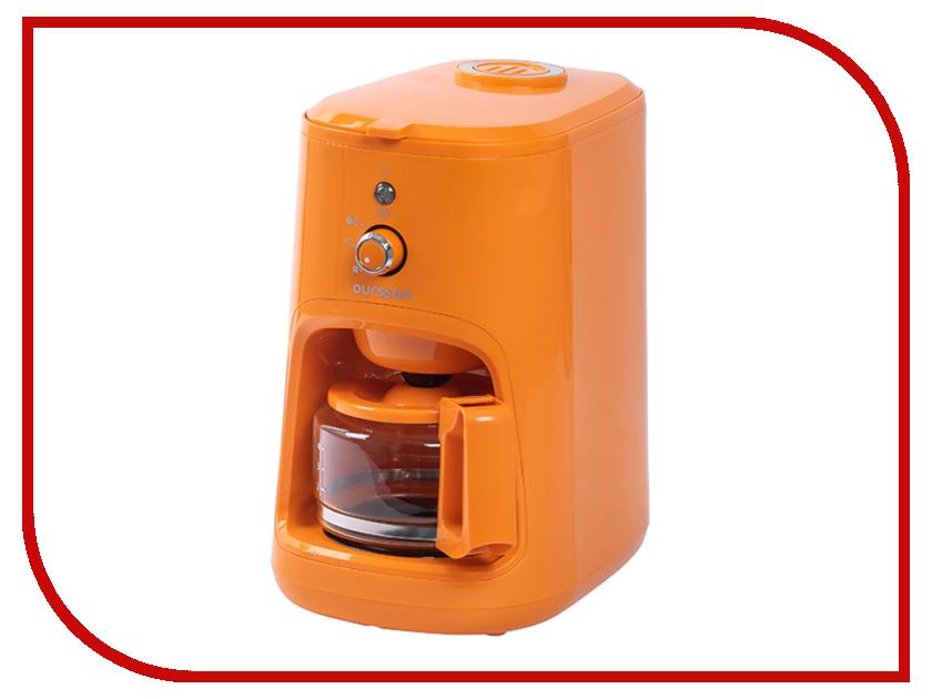 Кофеварка Oursson CM0400G/OR Orange кухонные весы oursson ks5003gd or