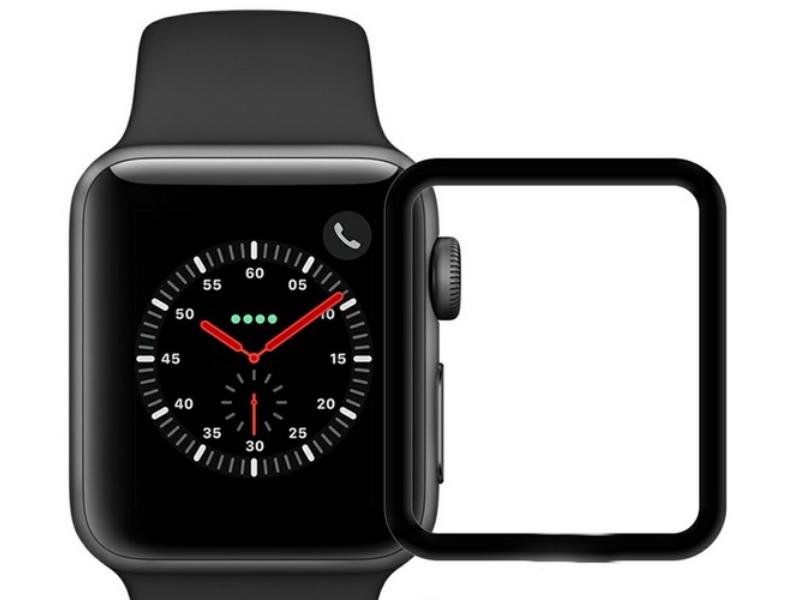 Аксессуар Защитное стекло Krutoff 3D Full Cover для Apple Watch 1/2/3 38mm 2763