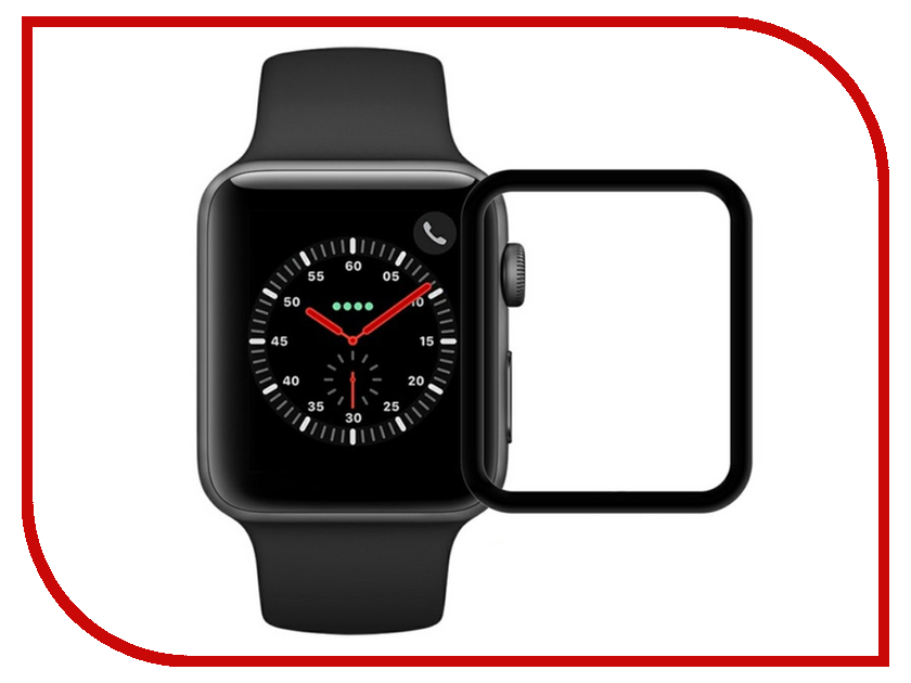 Аксессуар Защитное стекло Krutoff 3D Full Cover для Apple Watch 1/2/3 42mm 2764 stainless steel 42mm band wristband strap with butterfly clasp for iwatch series 3 2 1