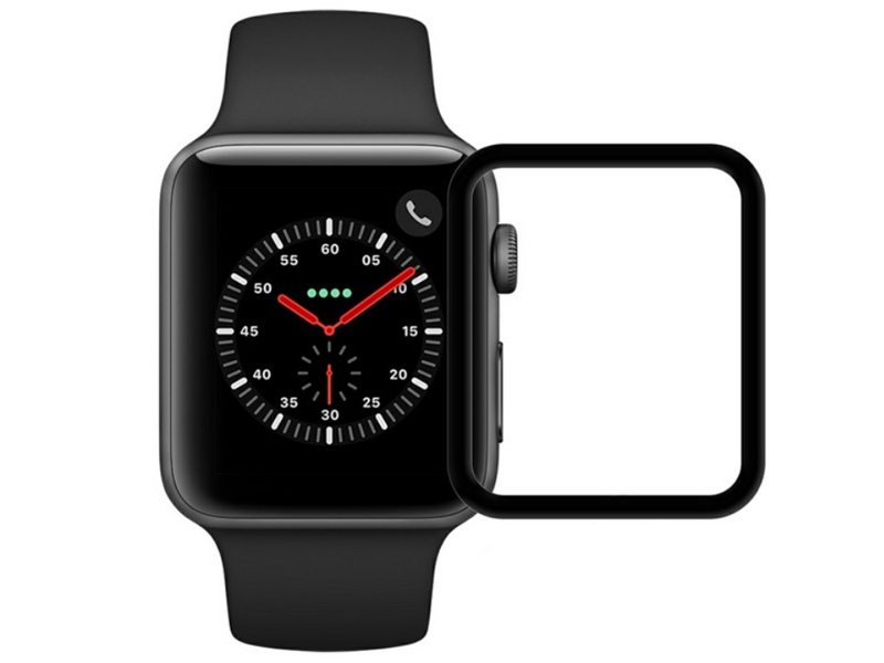 Аксессуар Защитное стекло Krutoff 3D Full Cover для Apple Watch 1/2/3 42mm 2764