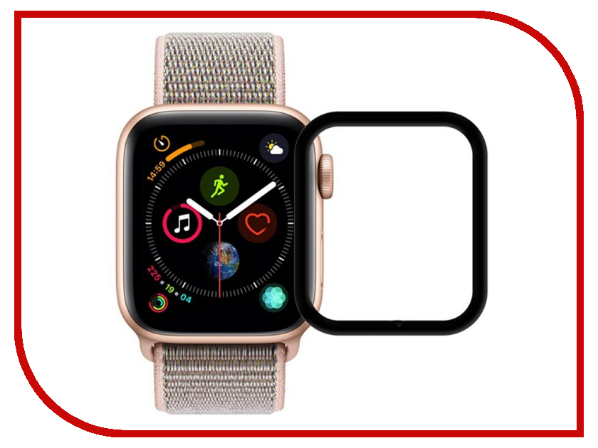 Аксессуар Защитное стекло Krutoff 3D Full Cover для Apple Watch 4 40mm 2765 аксессуар защитное стекло gurdini 3d full screen для apple watch 38mm 903119