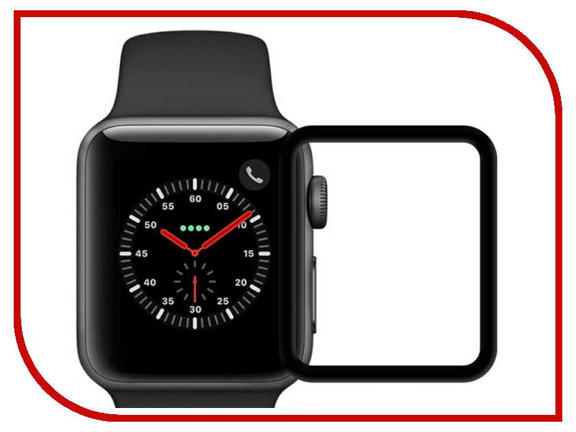 Аксессуар Защитное стекло Krutoff 3D Full Glue для Apple Watch 1/2/3 38mm 2767 аксессуар защитное стекло gurdini 3d full screen для apple watch 38mm 903119