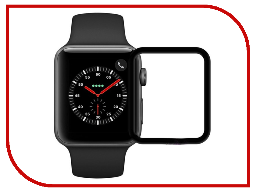 Аксессуар Защитное стекло Krutoff 3D Full Glue для Apple Watch 1/2/3 42mm 2768 stainless steel 42mm band wristband strap with butterfly clasp for iwatch series 3 2 1