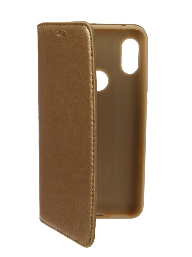Аксессуар Чехол Gurdini для Xiaomi Redmi Note 6 Pro Premium Silicone Champagne 907594 аксессуар чехол книжка для samsung galaxy a9 2018 a920 gurdini premium с силиконом на магните champagne 907592