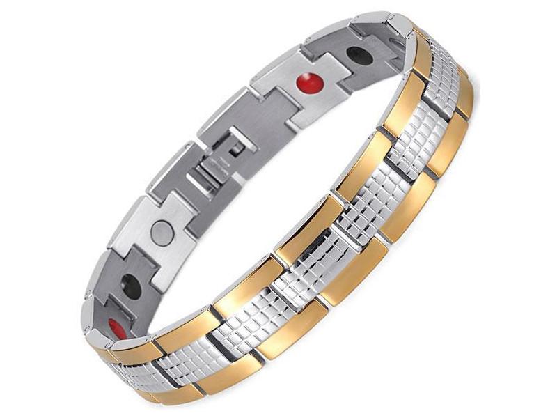 Магнитный браслет Luxor Золотой Джин 4 в 1 ДЖЗ