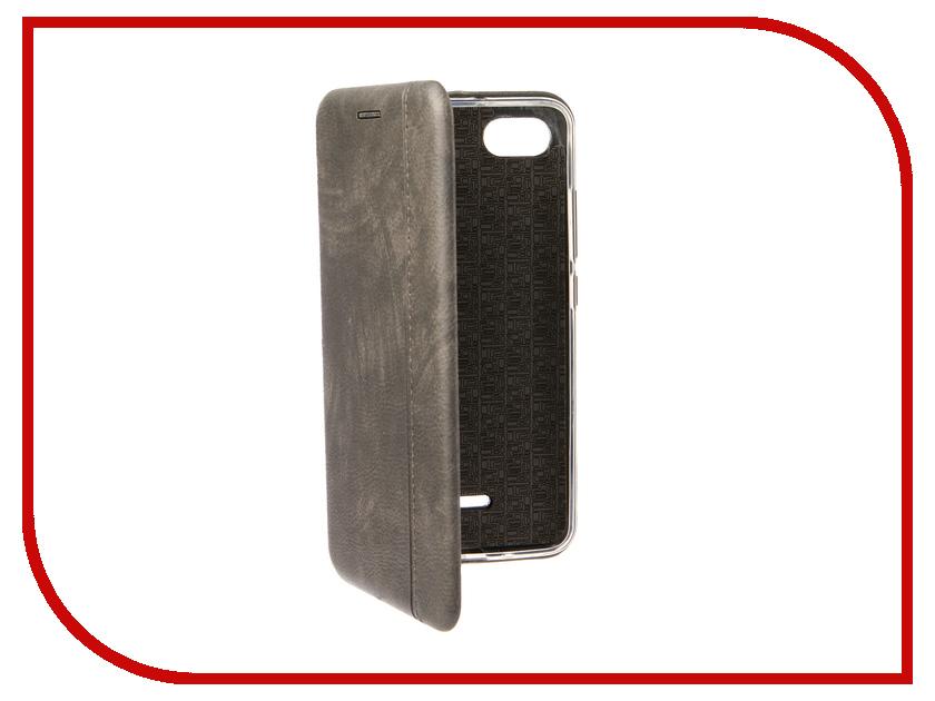 Аксессуар Чехол для Xiaomi Redmi 6A Zibelino Book Grey ZB-XIA-RDM-6A-GRY аксессуар чехол xiaomi redmi note 5a zibelino cover back elegant black zb xia rdm not5a blk