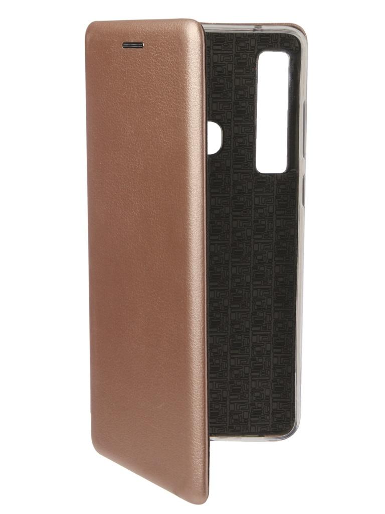 Аксессуар Чехол Zibelino для Samsung Galaxy A9 A920 2018 Book Pink Gold ZB-SAM-A920-PGLD аксессуар чехол книжка для samsung galaxy a9 2018 a920 gurdini premium с силиконом на магните champagne 907592