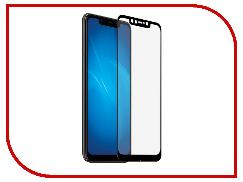 Аксессуар Защитное стекло для Xiaomi Pocophone F1 Red Line Full Screen 3D Tempered Glass Black УТ000016751 3d full cover tempered glass for xiaomi a1 hd screen protector film