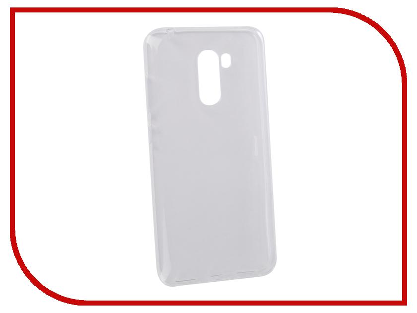 Аксессуар Чехол для Xiaomi Pocophone F1 Svekla Silicone Transparent SV-XIPCPHF1-WH аксессуар чехол xiaomi redmi note 4 gecko transparent glossy white s g xirmnote4 wh