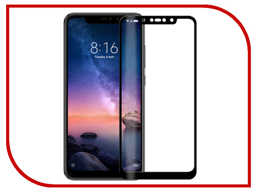 Аксессуар Защитное стекло для Xiaomi Redmi Note 6 Pro Red Line Full Screen Tempered Glass Full Glue Black УТ000016737 аксессуар защитное стекло meizu m5 note 5 5 red line full screen tempered glass black