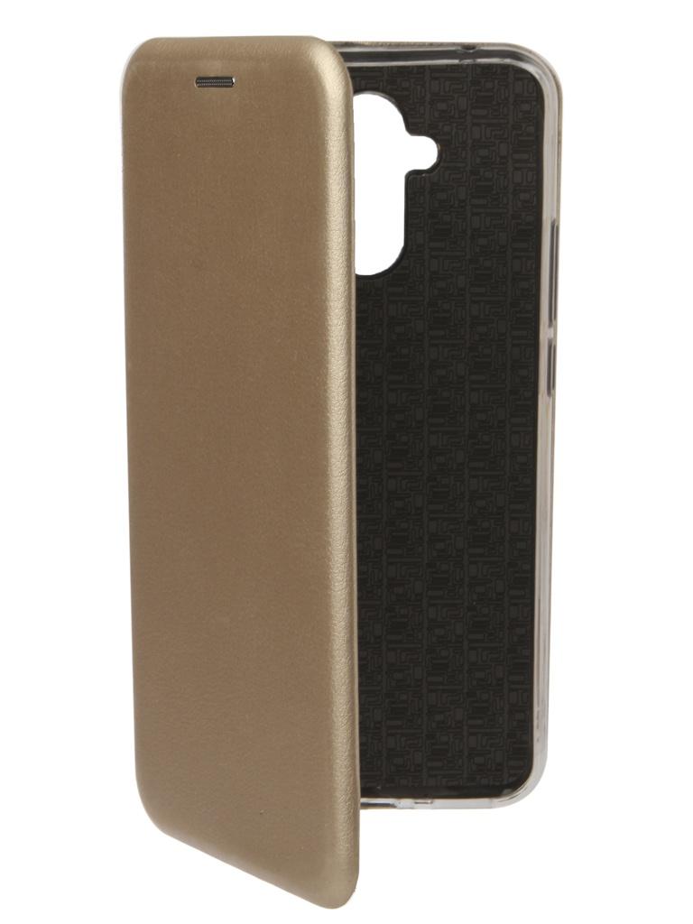 Чехол Zibelino для Huawei Mate 20 Lite Book Gold ZB-HUW-M20-LT-GLD