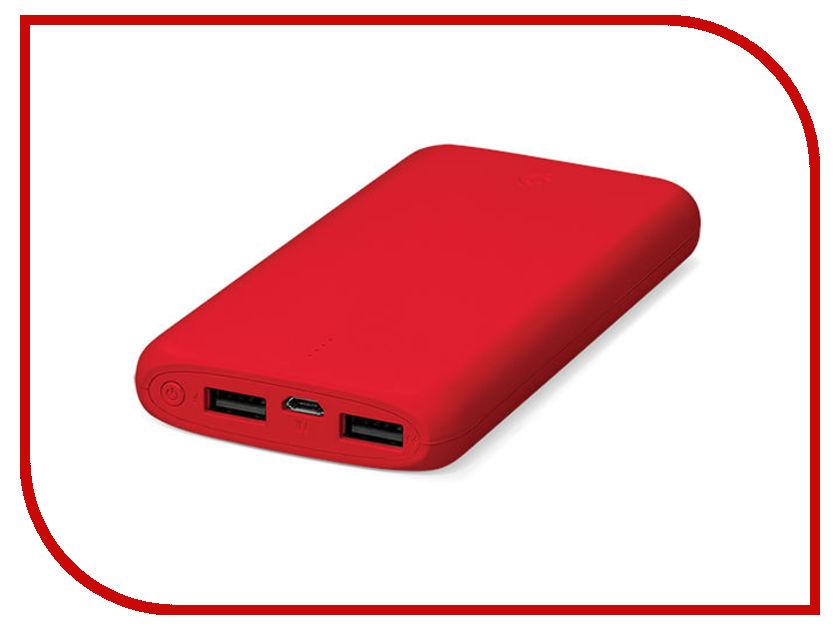Аккумулятор ttec PowerSlim 10000 mAh Red 2BB133K аккумулятор ttec powerslim 10000 mah 2bb133b white tec 8694470643656