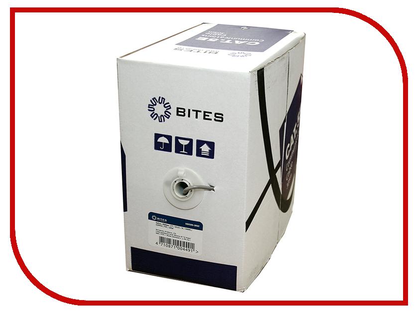 Сетевой кабель 5bites UTP / SOLID / 5E / 24AWG / COPPER / PVC / 305M US5505-305C сетевой кабель 5bites ftp solid 5e 24awg copper pe outdoor messenger drum 305m black fs5505 305ce m