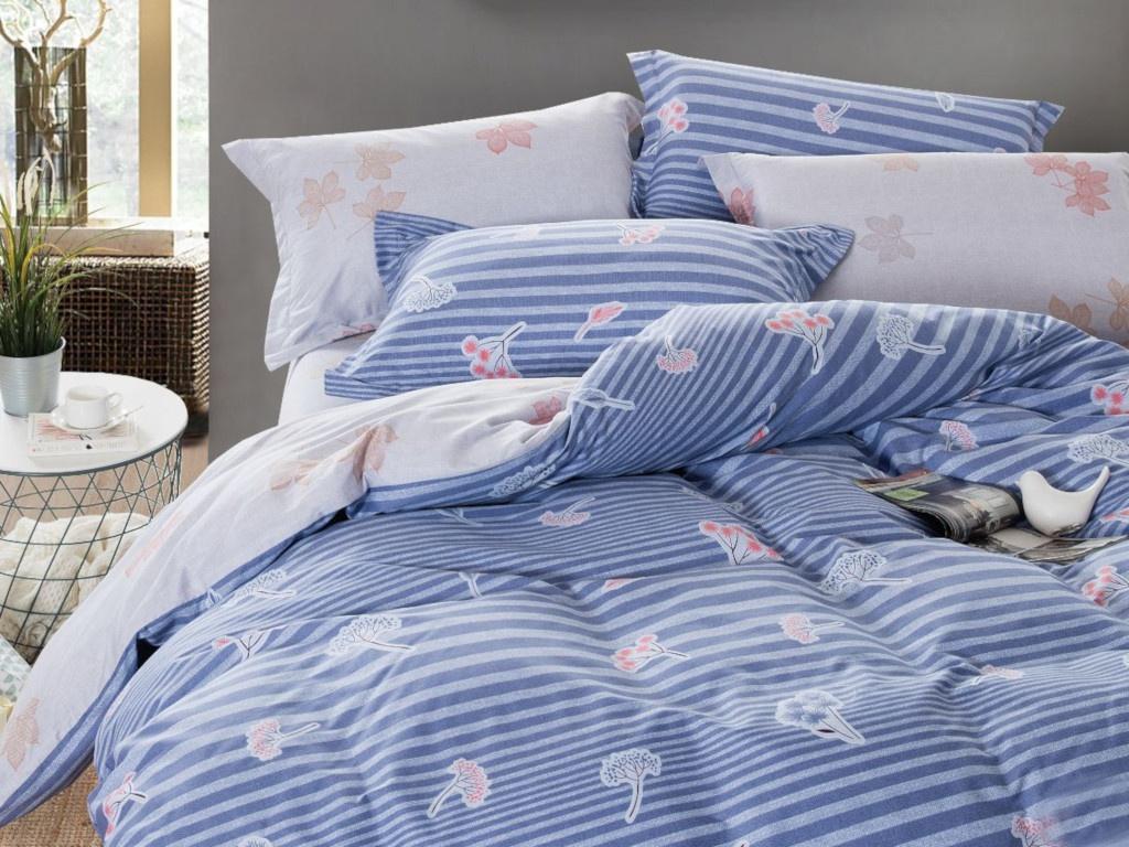 Постельное белье Cleo Satin Lux 15/312-SL Комплект 1.5 спальный Сатин