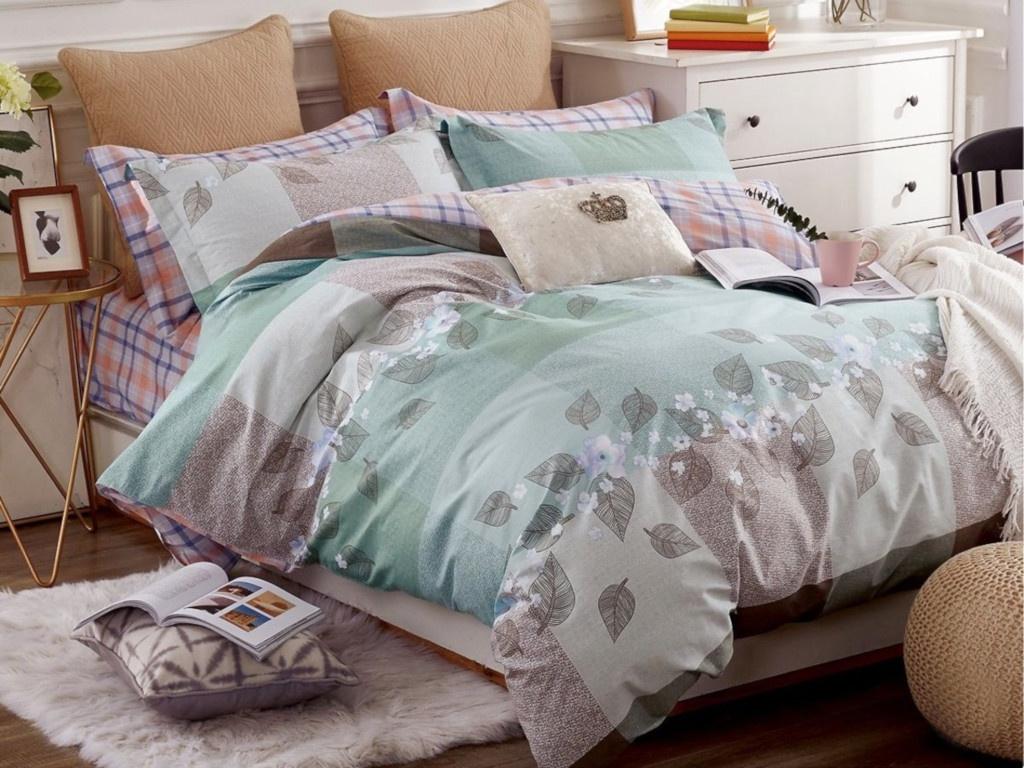 все цены на Постельное белье Cleo Satin Lux 15/293-SL Комплект 1.5 спальный Сатин онлайн