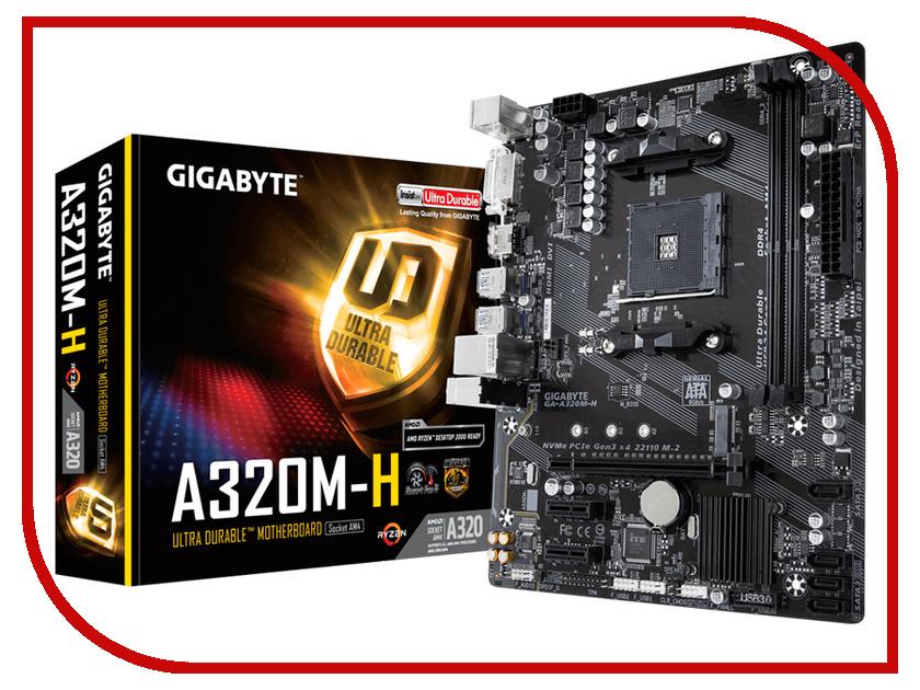 Материнская плата GIGABYTE GA-A320M-H gigabyte brix gb bki3ha 7100