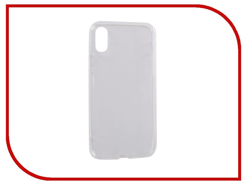 Аксессуар Чехол для APPLE iPhone X LuxCase TPU Transparent 60044 anycase tpu чехол для apple iphone x mint