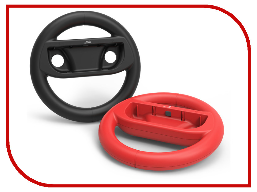 Комплект аксессуаров Speed-Link Rapid Racing Wheel Set - For Nintendo Switch Black-Red SL-330700-BKRD цена и фото