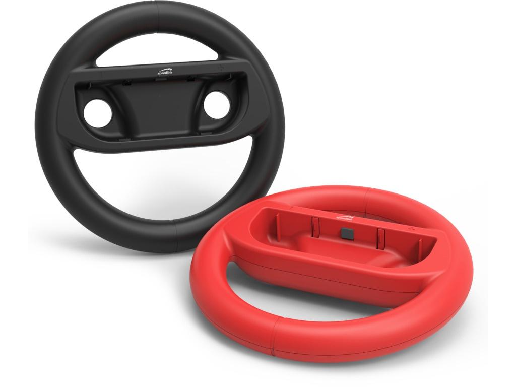 цена на Комплект аксессуаров Speed-Link Rapid Racing Wheel Set - For Nintendo Switch Black-Red SL-330700-BKRD