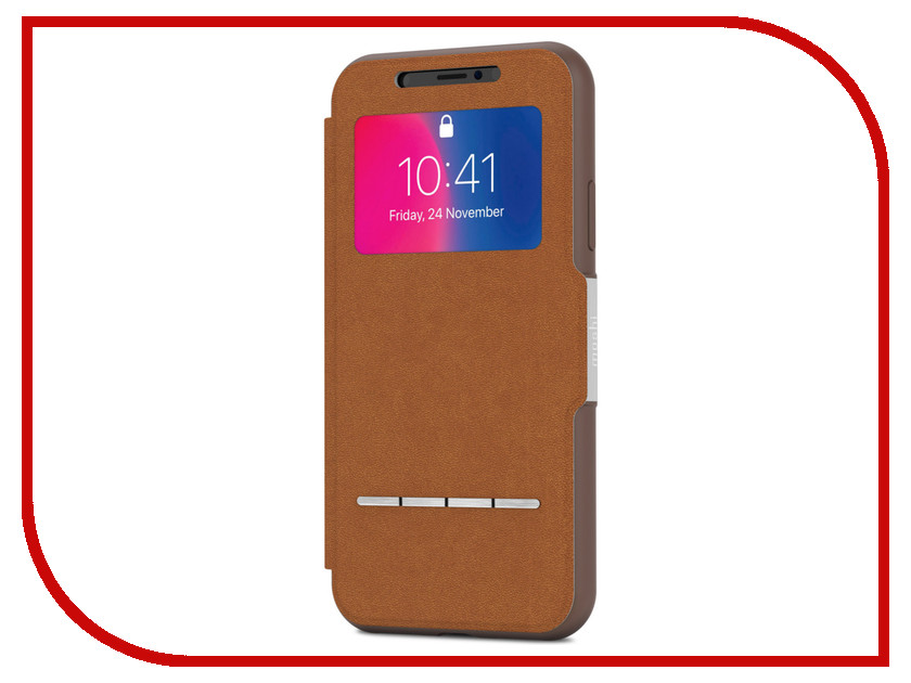 Аксессуар Чехол для APPLE iPhone X / XS Moshi SenseCover Caramel Brown 99MO072731