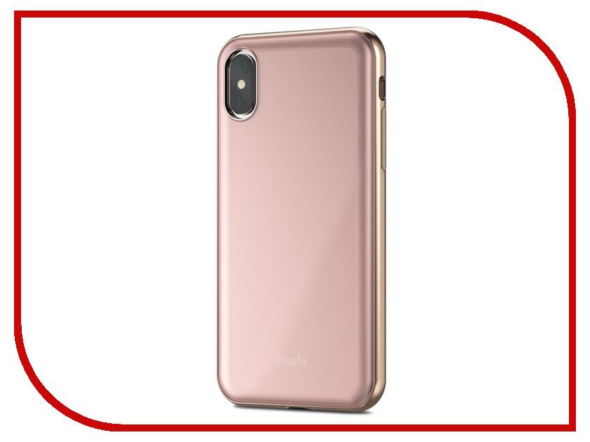 купить Аксессуар Чехол для APPLE iPhone X / XS Moshi iGlaze Taupe Pink 99MO101301 онлайн