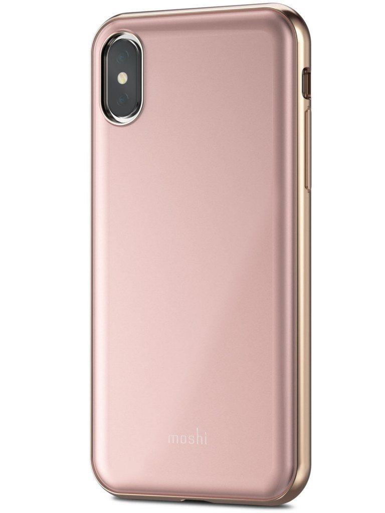 Аксессуар Чехол Moshi для APPLE iPhone X / XS iGlaze Taupe Pink 99MO101301