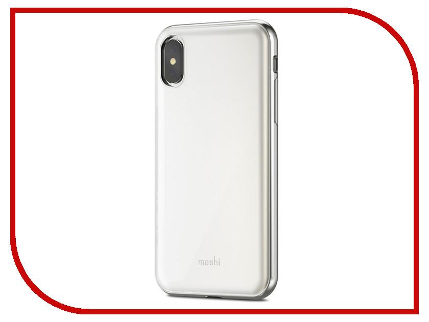купить Аксессуар Чехол для APPLE iPhone X / XS Moshi iGlaze Pearl White 99MO101101 онлайн
