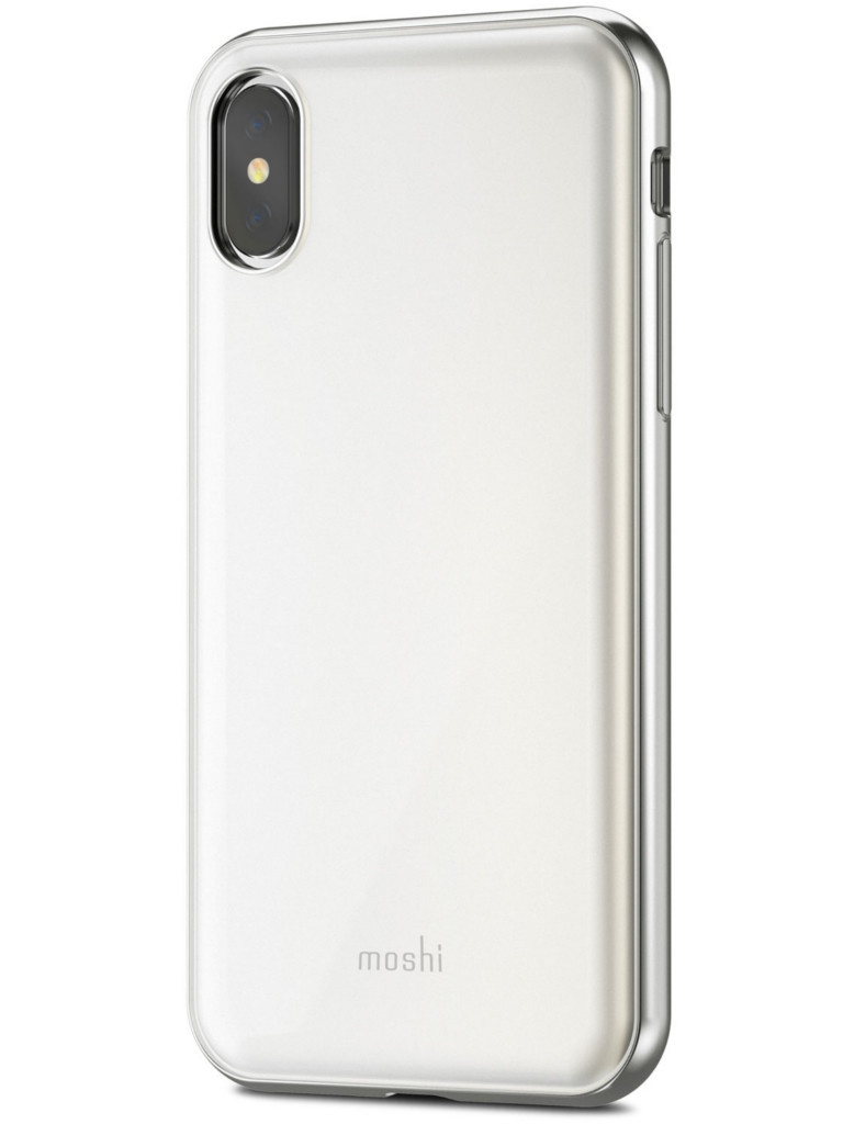 Аксессуар Чехол Moshi для APPLE iPhone X / XS iGlaze Pearl White 99MO101101