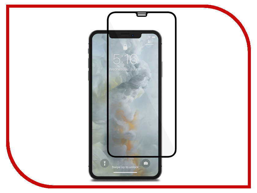 Аксессуар Защитное стекло для APPLE iPhone XS Max Moshi IonGlass Black Glossy 99MO096022 фотопленка fujifilm wide glossy для instax 300 210 glossy 10 2pk на 20 фотографий