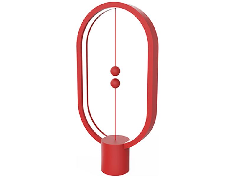 Настольная лампа Allocacoc Heng Balance Lamp Ellipse Plastic USB Red DH0040RD/HBLEUB