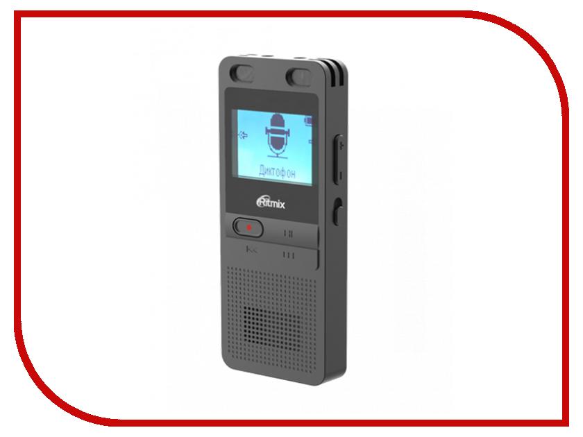 лучшая цена Диктофон Ritmix RR-910 8GB Black