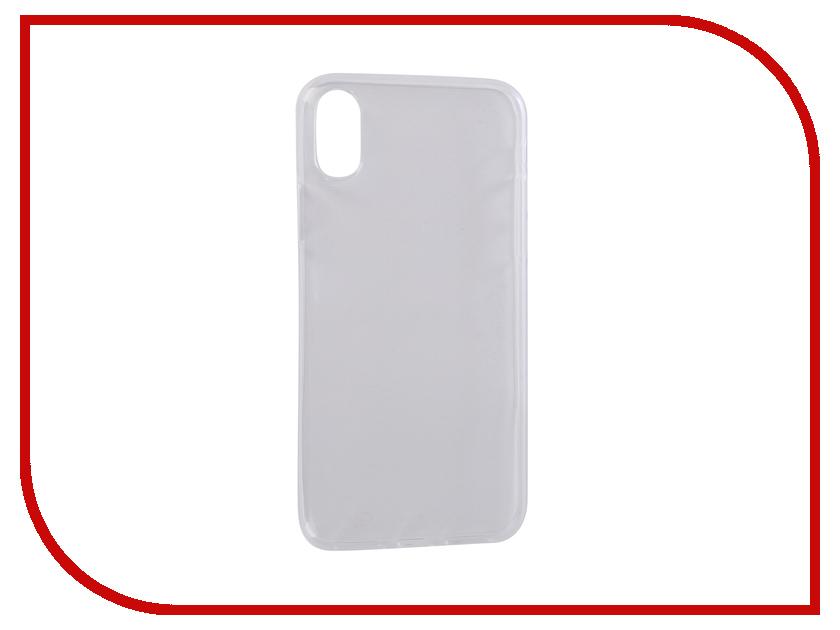 Аксессуар Чехол Pero для APPLE iPhone XS Transparent PRSLC-IXSTR