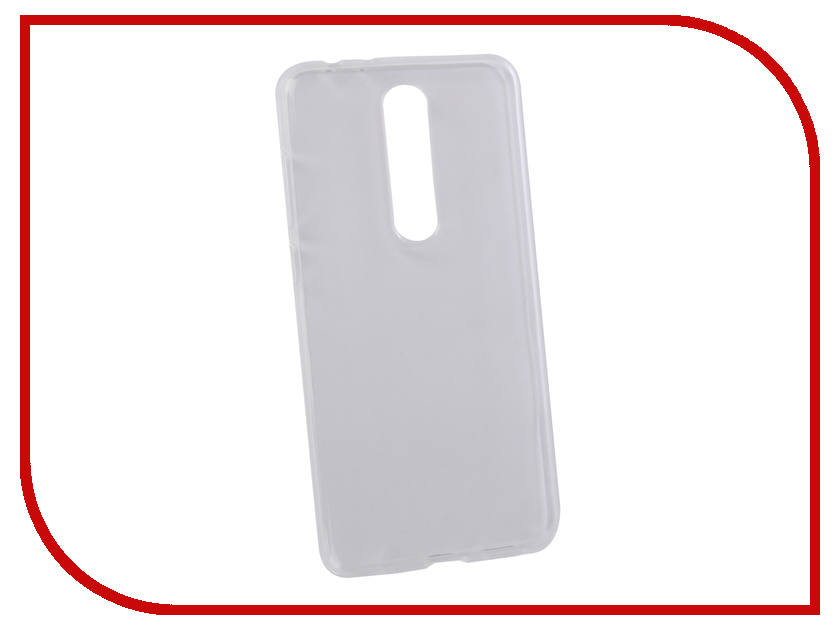 Аксессуар Чехол для Nokia 5.1 Plus Pero Transparent PRSLC-N51PTR аксессуар чехол для nokia 6 2018 pero silicone transparent