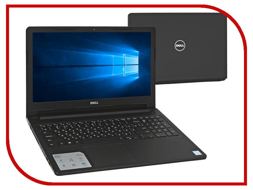 Ноутбук Dell Vostro 3568 3568-5963 Black (Intel Core i3-7020U 2.3 GHz/4096Mb/1000Gb/No ODD/Intel HD Graphics/Wi-Fi/Cam/15.6/1366x768/Windows 10 64-bit) ноутбук dell vostro 3568 15 6 1366x768 intel pentium 4415u 1 tb 4gb intel hd graphics 610 черный windows 10 home 3568 0238
